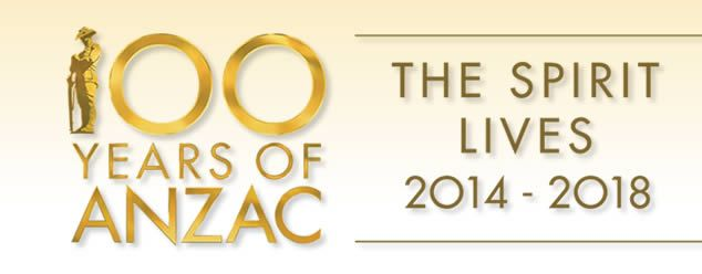 The federal ANZAC centenary website-100 years of Anzac - The Spirit lives 2014-2018.