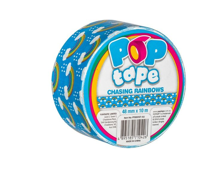 Buy Rainbow POPtape|Duct Tape Australia|Full Range of Coloured and Patterned Duct tape for craft