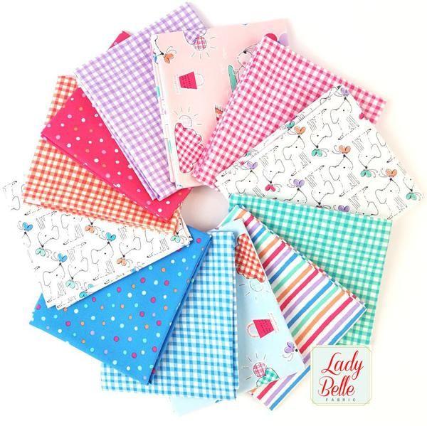 Description : Designed by Michael Miller Fabrics, this hand cut fat quarter bundle has 12 - 18 x 21 inch pieces. Designer: Michael Miller Line: Doggie Play day