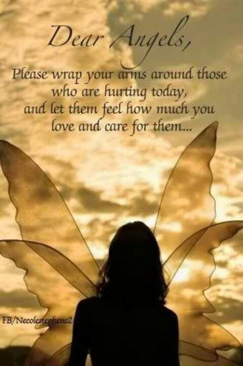 """Angels Wrap Arms Around Those Who Are Hurting Today.  Repinned by An Angel's Touch, LLC, d/b/a WCF Commercial Green Cleaning Co. """"Denver's Property Cleaning Specialists"""" http://www.angelsgreencleaning.net"""
