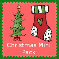 Free Christmas Mini Pack made to be used with the Christmas Toob - 3Dinosaurs.com