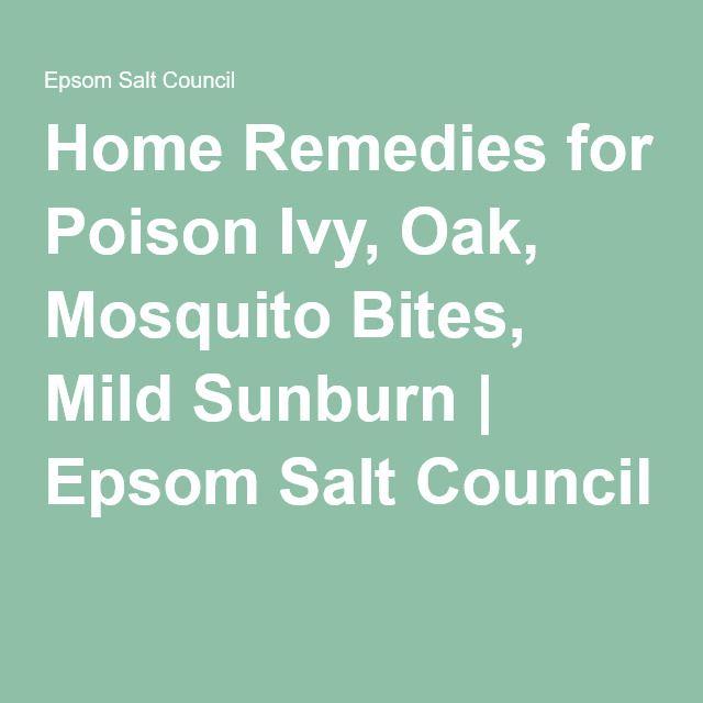 Home Remedies for Poison Ivy, Oak, Mosquito Bites, Mild Sunburn | Epsom Salt Council