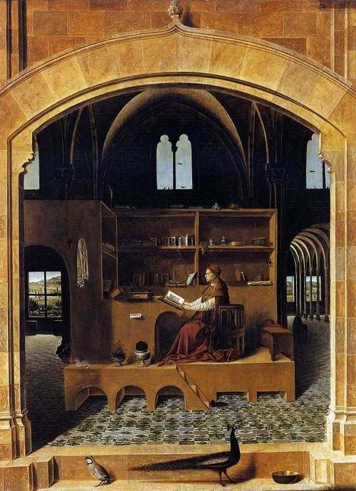 Antonello da Messina    St Jerome in his Study    c. 1460, oil on wood, National Gallery, London