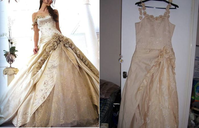 imitation wedding dress