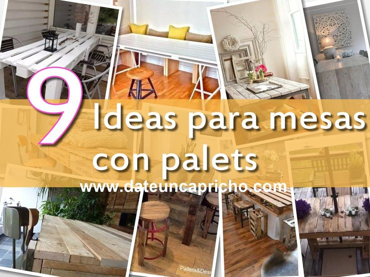 9 mesas hechas con palets