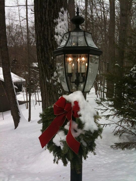 Pretty lamp post. | Holiday Decorations | Pinterest ...