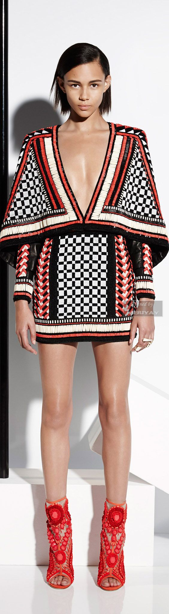 Balmain Again. This is a Real creation. Interesting pieces together. And again you need to be very thin to rock this dress