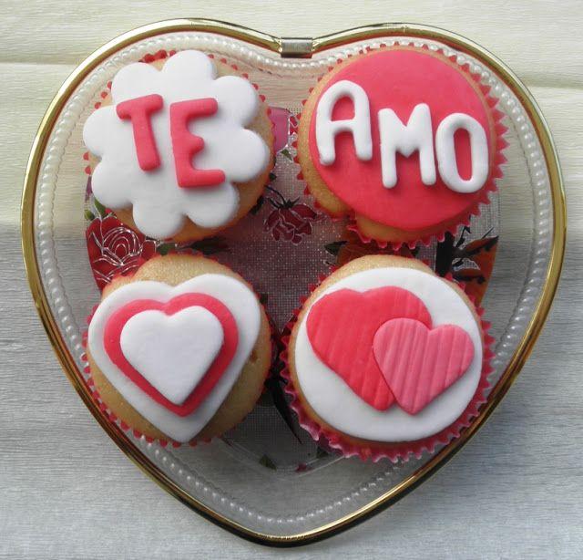 cupcakes para el dia del amor y la amistad - Buscar con Google