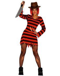 Disfraz de asesina Krueger para mujer