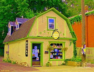 Book Store Painting - Octopus Bookstore 3rd Ave Bank Street Nepean The Glebe Paintings Of Ottawa Carole Spandau  by Carole Spandau