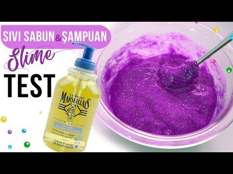 Tutkalsiz şampuan Elsabunu Slime Test Tutkalsız Slime Testi Hoppi