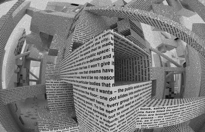 Vito Acconci, City of words, 2010