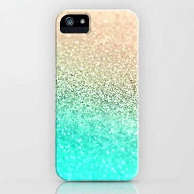 GATSBY AQUA GOLD by Monika Strigel Phone Cases $35.00      Model  FREE Worldwide Shipping Today