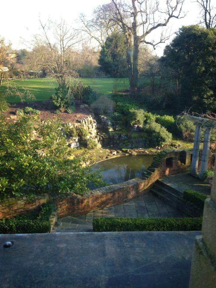Gardens, Eltham Palace. Eltham Palace, English Heritage. London, England