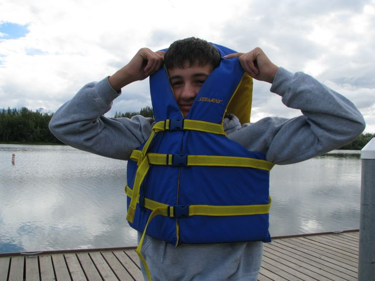 This life jacket is too big! Wearing a life jacket is ...