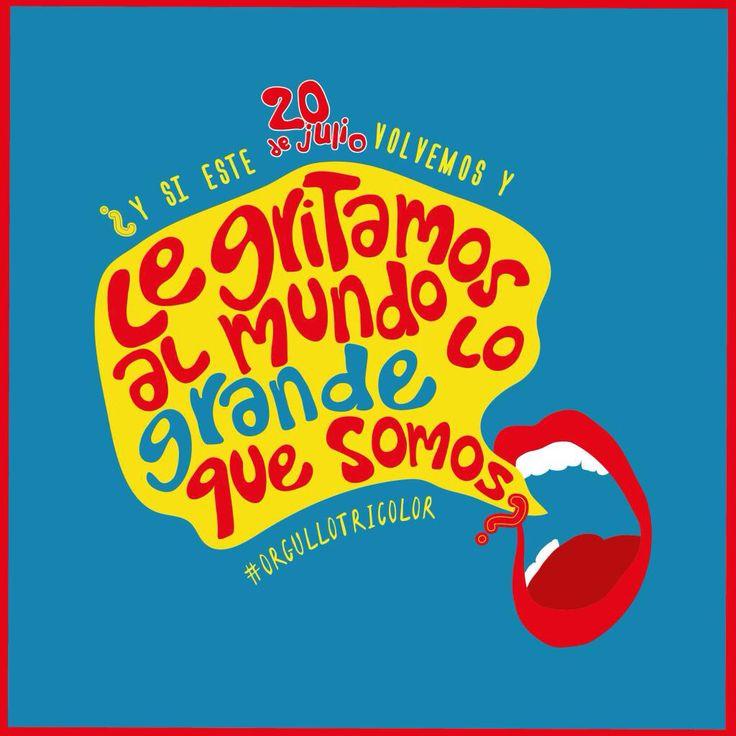 Preparados para exponer este 20 de julio, todo nuestro @orgullotricolor