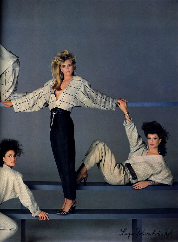 Versace 1984 Photographer: Richard Avedon Models: Andie MacDowell, Kim Alexis , and Kelly LeBrock