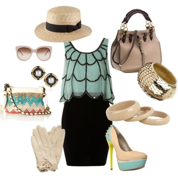 Out in Aqua, created by jonobo on Polyvore