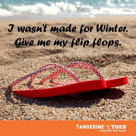 Love for flipflops > Love for Winter