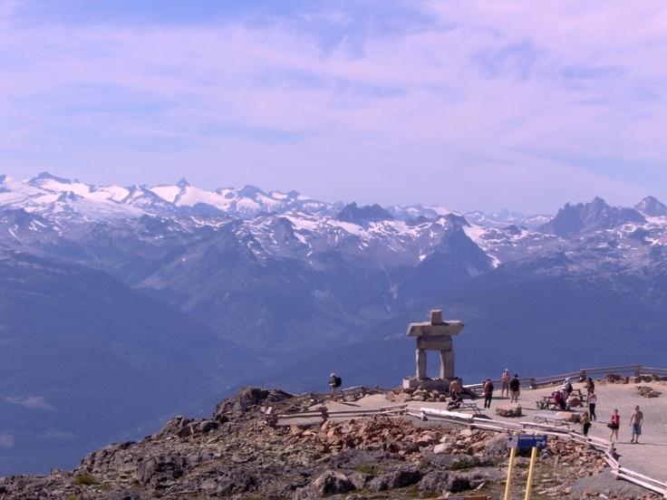The top of Whistler Mountain