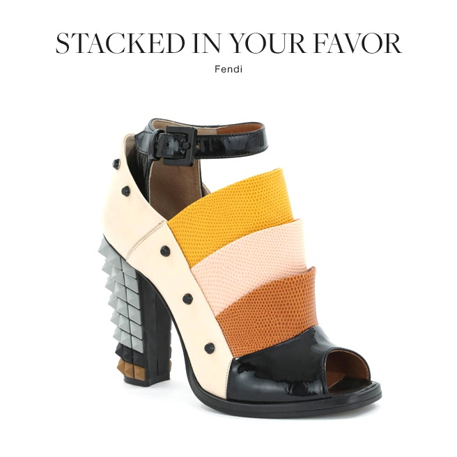 @Fendi stacked heels in serious color block #fashion