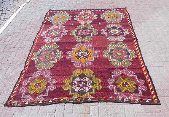 Goat Hair Wool Kilim Rug outdoor rug turkish rug kelim rug