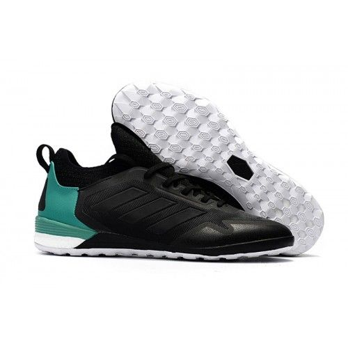 2017 Adidas ACE Tango 17+ Purecontrol IC Botas De Futbol Verde Negro