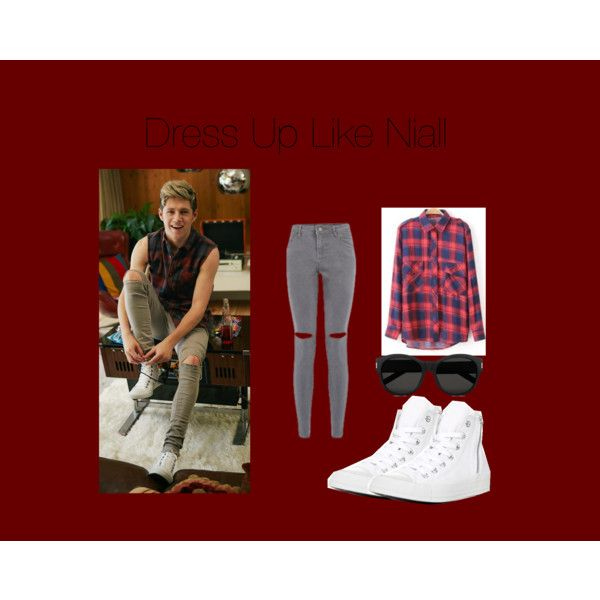 Dress Up Like Niall by edithtoth on Polyvore featuring Converse and Yves Saint Laurent