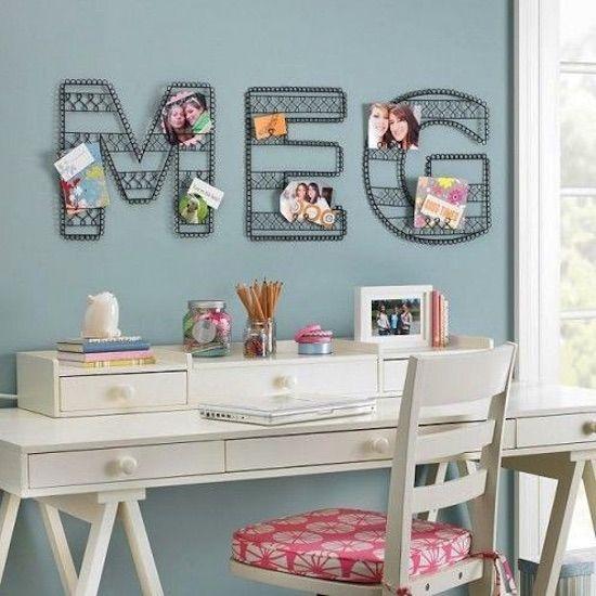 23 fabulosas ideas para decorar paredes con letras - Decorar paredes con letras ...