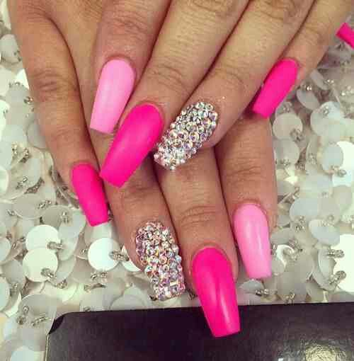 Pink, light Pink, Diamonds
