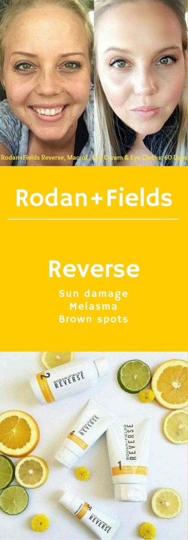 "Ready to say ""good-bye"" to your sun damage...melasma...brown spots?  Reverse it!  Ask me how to save 10% and get free shipping!  60 Day Empty Bottle Money Back Guarantee!    https://loridevaney.myrandf.com/Shop/Reverse"