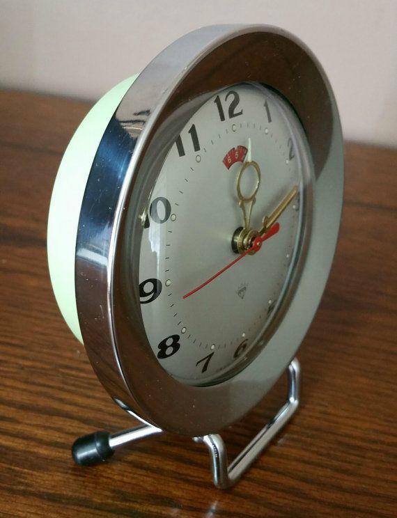 Vintage Wind up Alarm Clock 1970s Retro Alarm Clock 1970s