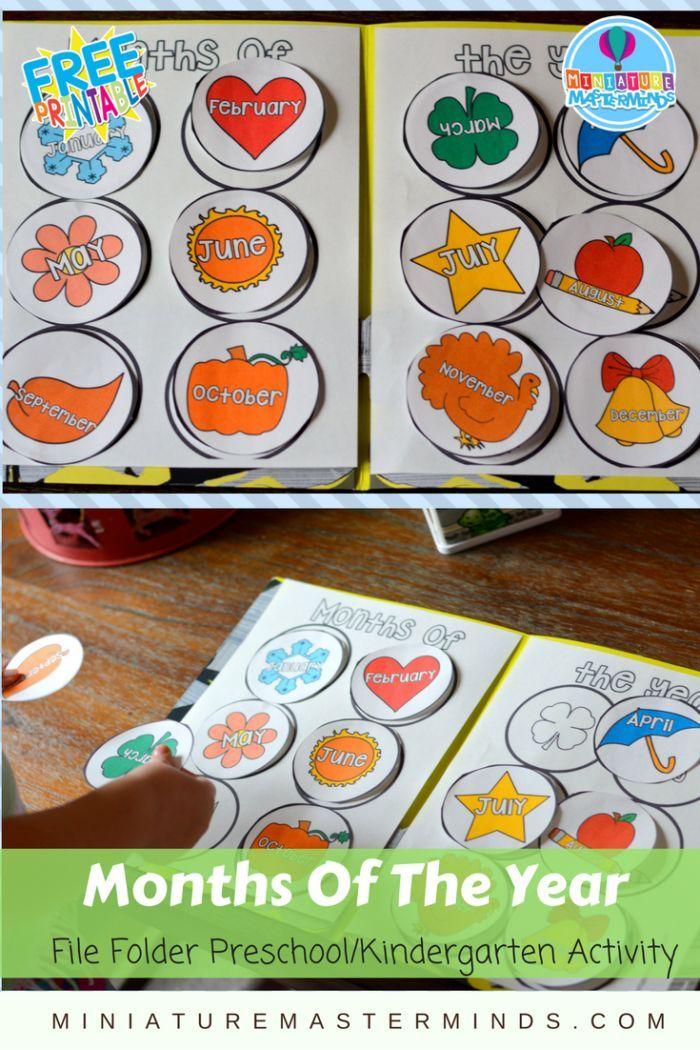 Kindergarten Calendar Folders : Months of the year preschool kindergarten and first grade