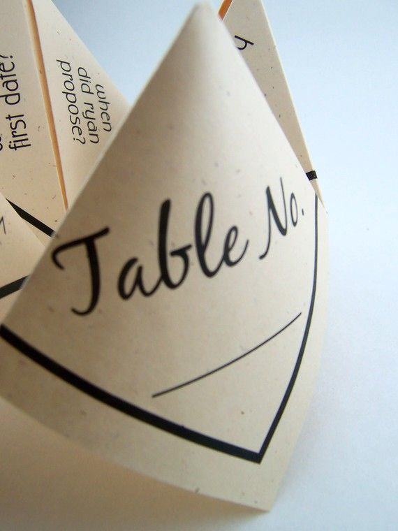 cute idea as place cards or conversation starters for the table