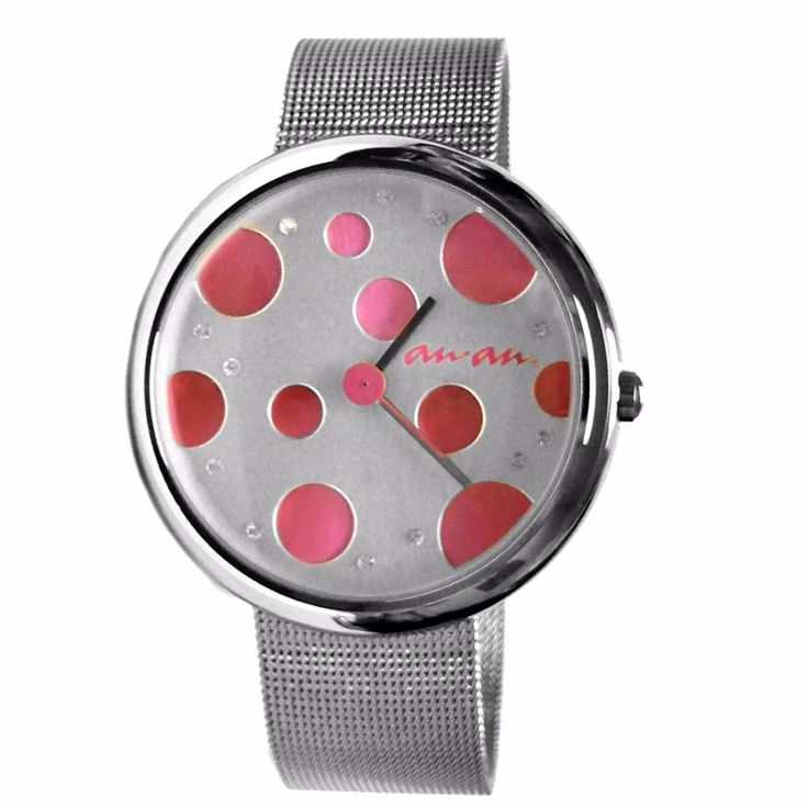 cool FW403J Pink Dial Shiny Silver Band Round Water Resist Ladies Women Fashion Watch