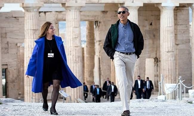 Μεσαρίτισα νύφη η ξεναγός του Ομπάμα