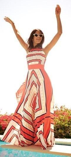 Nordstrom Long geometric summer dress love!!