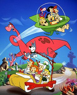 The Jetsons Meet The Flintstones. I loved this movie! I wish I could find it on dvd.