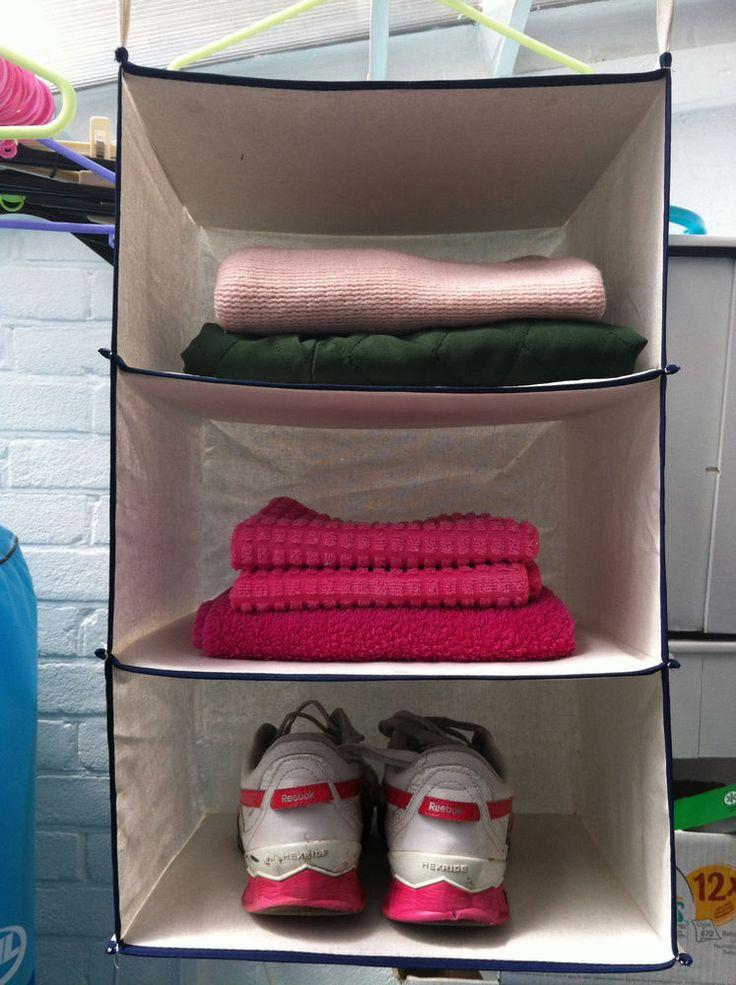 Household Essentials :  3-Shelf Cotton Hanging Closet Organizer. FREE DELIVERY!