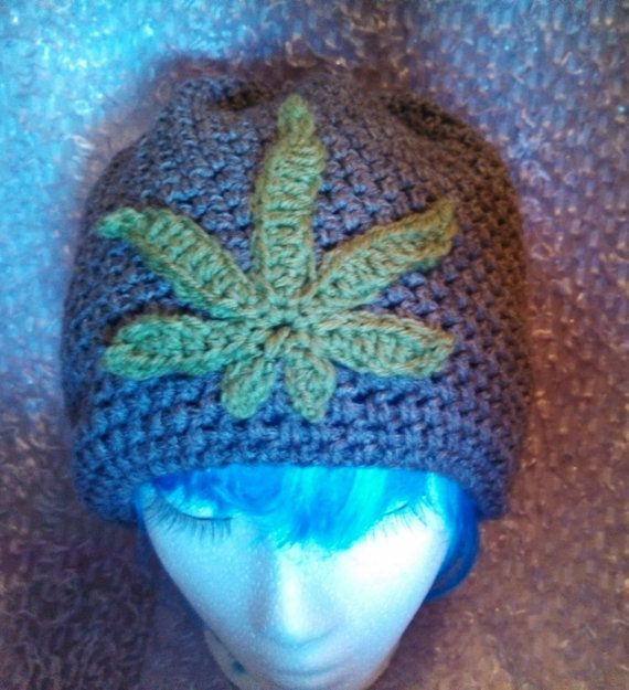 Hey, I found this really awesome Etsy listing at https://www.etsy.com/listing/176012188/crochet-pot-leaf-slouchy-beanie-for