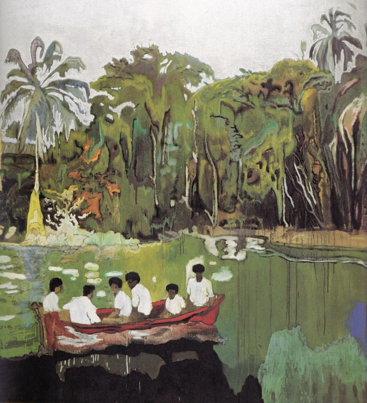 """Peter Doig """"Red Boat (Imaginary Boys)""""2004"""