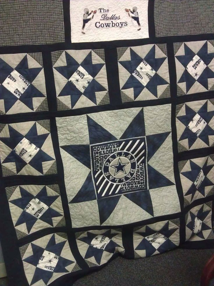 Quilt Dallas Cowboys And Shirts On Pinterest
