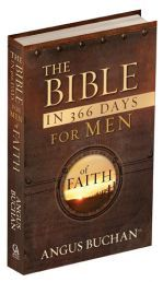 "THE BIBLE IN 366 DAYS FOR MEN OF FAITH. Scripture verses from the New Living Translation® with short inspirational thoughts written in Angus's signature style, it will encourage daily reading of the Bible...Angus Buchan Available @ Faith4U Book- and Giftshop, Secunda, SA email ""faith4u@kruik.co.za"""