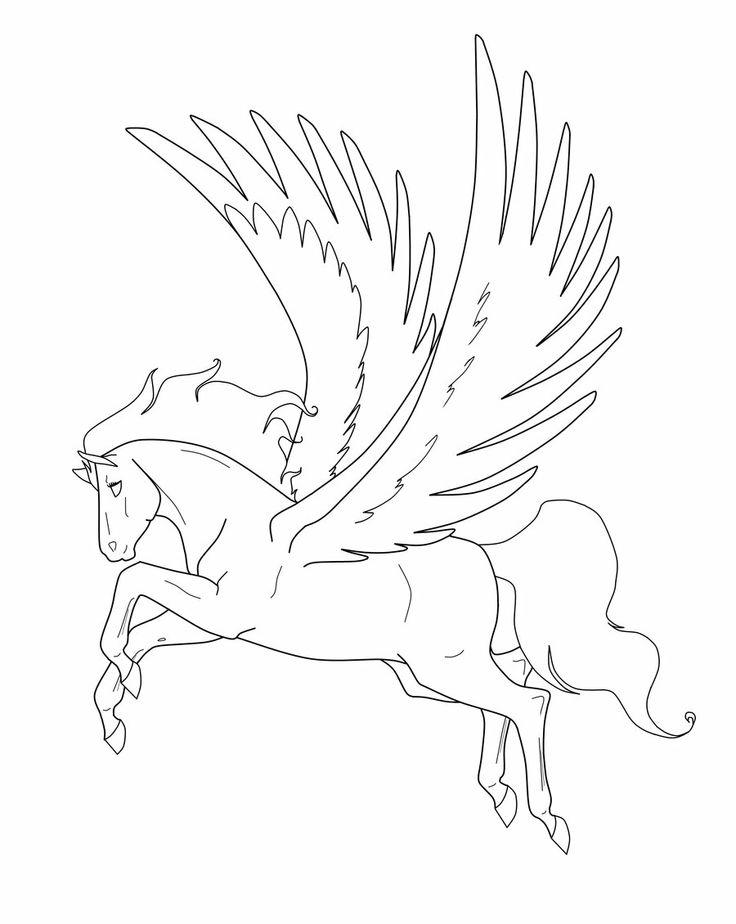Лошадь с крыльями картинка детская
