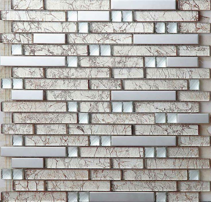 Metal Tile Backsplash Kitchen Design Colorful Crystal Glass U0026 Stone Blend  Mosaic Marble Wall Stickers Bathroom