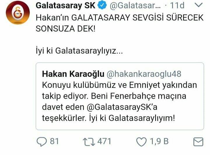 Helal olsun Galatasaray'ım! #HakanKaraoğlu #Galatasaray