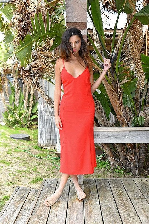 4a4105842e51f Red Dress, Party Dress, Holiday Dress, Midi Dress, Sexy Dress, Red Midi  Dress, Casual Dress, Dresses, Clothing, Bachelorette Beach in 2019 | Women  Clothes ...