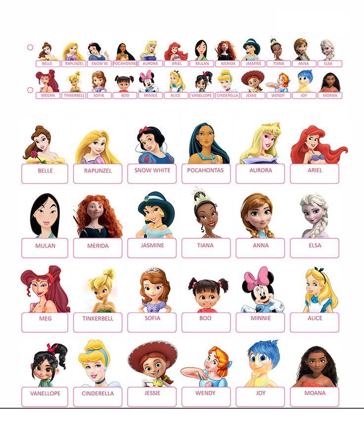 Guess who printable Disney Princess