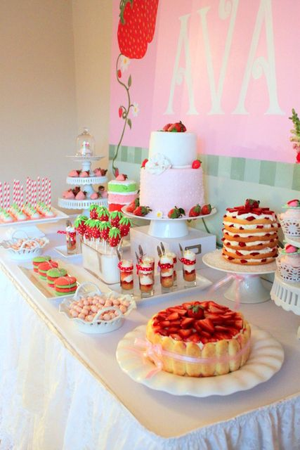 """Photo 2 of 21: Strawberry Shortcake / Birthday """"Ava's Strawberry Shortcake Party""""   Catch My Party"""