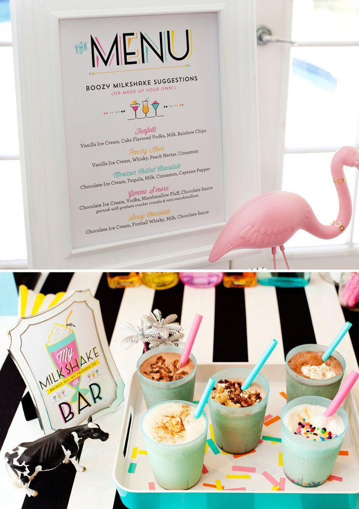 Cocktail Milkshake Recipes and Ideas + Free Printables by HWTM